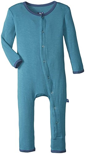 KicKee Pants Baby Boys Fitted Coverall Prd-Kpca212-Bayt, Bay With Twilight, 0-3 Months