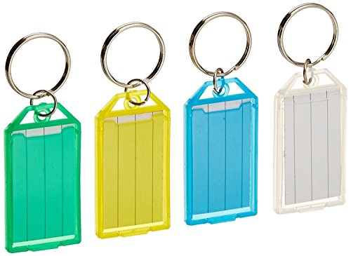 MMF Industries Replacement Key Tags for MMF Key Rack #201400847, Assorted Colors, 4-Pack (201400747) - Mmf Industries Key Tags