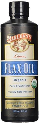 Barlean's Organic Oils High Lignan Flax Oil, 16-Ounce Bottle by Barlean's Organic Oils Barleans Lignan Rich Flax Oil