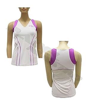 ASICS Camiseta WS Padel Tank Blanco 113430 0001: Amazon.es ...