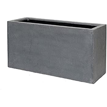 Amazon.com : Grey Flower Pot Modern Rectangular Balcony