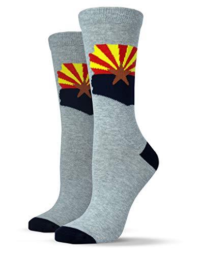 Unisox Americana Socks - Graphic AZ Flag Print Socks - Arizona ()