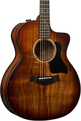 Taylor 224ce Deluxe Koa Grand Auditorium - Shaded Edgeburst
