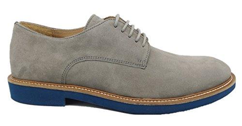 FRAU Francesine Derby Blu Scarpe Uomo Elegante 35A1 grigio