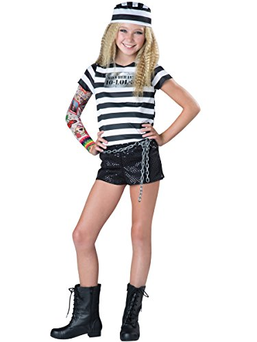 InCharacter Tween Girls Convict Cutie Costume (Convict Cutie Halloween Costume)