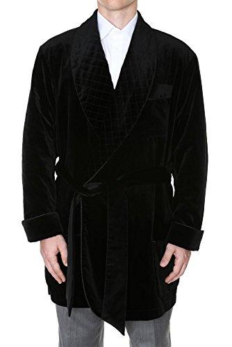 Men's Velvet Robe Harrison Black Medium
