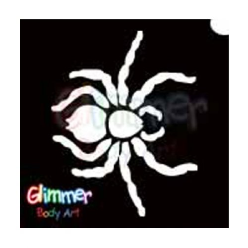Glimmer Body Art Glitter Tattoo Stencils - Spider 1 5/pack -