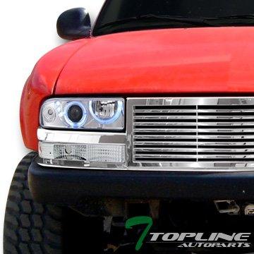 Topline autopart cromado Halo LED proyector faros delanteros con ...