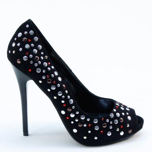 Womens New Rhinestones High Brieten Dress Peep Colorful Heel Sandals Toe 4q5gH5