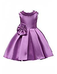 FKKFYY 2-14 Years Little Big Girls Princess Dresses for Wedding Party Holiday