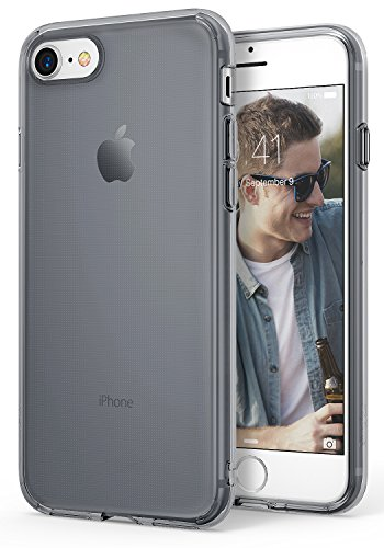 (Ringke AIR Compatible with Apple iPhone 7, iPhone 8 Phone Case Weightless as Air, Extreme Lightweight & Thin Transparent Soft Flexible TPU Scratch Resistant Protective Cover - Smoke Black)