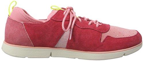 Clarks Tri Bessie Jnr Mädchen Sneakers Rot (Rose Suede)
