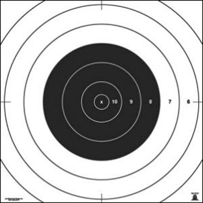 "100 Pcs, Nra 100-Yard High Power Rifle Rapid Fire Target (Sr-21) Repair Center Printed On Heavy Weight (Tag) Approved Nra Paper Size: 10.5"" X 10.5"""