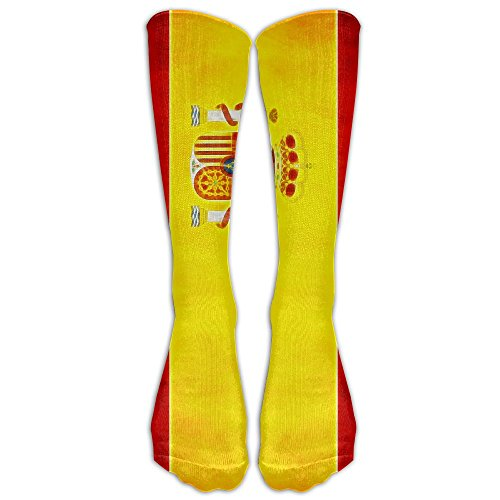ZXX Men&Women Spain Flag Casual Mid-calf Socks Fashion Sports Novelty Below Knee Tube Stockings One - Usps To Shipping Spain