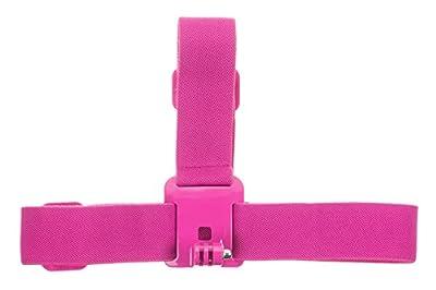 KitVision Coloured Adjustable Head Strap Mount For Gopro Hero Range And Edge Hd10/Splash/Escape 5/Escape 5W - Pink