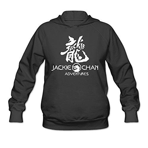 CYANY Chinese Word Dragon Jackie Honorary Chan Adventures Women's Graphic Hoodies Sweatshirt XXLBlack (Costume Collection Promo Code)
