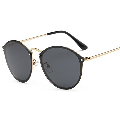 Personality Polarized Classic Sun Glass Colorful Sun Glass,3 Gold Frame Orange Red ()