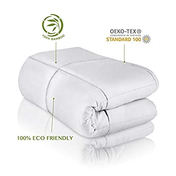 Image of CARMA Warm Weighted Blanket 15 lbs | Ultra Soft & Smooth 100% Bamboo Viscose Glass Beads, Heavy Blanket for Teens and Adults, 60'x80' | Queen Size Cooling Blanket CARMA B07VB2LQQQ Weighted Blankets