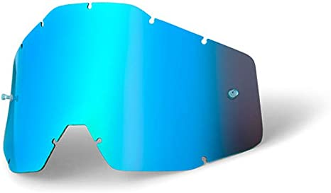 LENTE BLUE OCCHIALI MASCHERA MOTO CROSS 100/% ACCURI RACECRAFT STRATA