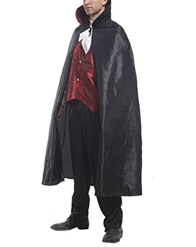 Jack The Ripper Costume Woman (LETSQK Men's Adult Halloween Theme Party Cosplay Complete Bloody Vampire Costumes Black)