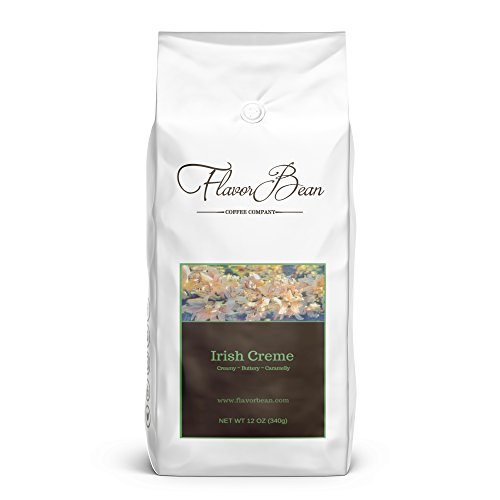 Flavorbean's Irish Crème Coffee | Untrammelled of Chemical Solvents and Carriers, Ground (12 oz.)