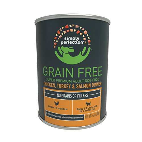 Cheap Simply Perfection Super Premium Grain Free Chicken-Turkey-Salmon Dinner Canned Dog Food 79.2oz Case, 6 cans