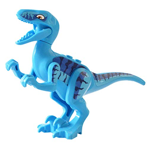 Lywey Dinosaur Action Figures DIY Building Blocks Playset Party Favors Toys for Kids with Educationa Significance (Velociraptor) ()
