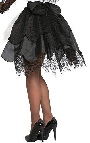 - Forum Novelties 76762 Witches Black Burlesque Bustle, One Size, Multi-color