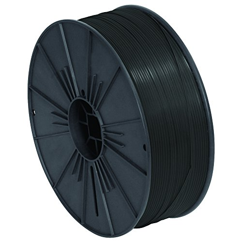Ship Now Supply SNPLTS532K Plastic Twist Tie Spool, 5/32'' x 7000', 0.156'' width, black by Ship Now Supply