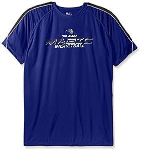 NBA Big and Tall Men's Short Sleeved Birdseye Crew T-Shirt with Shoulder Piecing