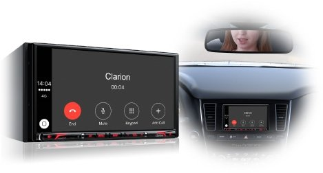 Clarion Corporation of America NX807 2-Din DVD Multi Media Station with Built-in Navigation & 6.95'' Touch Panel Control by Clarion Corporation of America (Image #3)