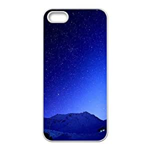For SamSung Galaxy S3 Phone Case Cover Cold Blue Starry Sky Mountains Hard Shell Back White For SamSung Galaxy S3 Phone Case Cover 342140