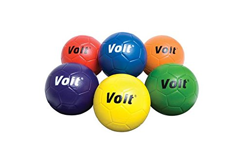 6-Pc 5-Prism Pack Coated Foam Soccer Ball Set by Voit