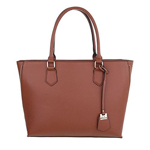 Ital-Design - Bolso al hombro de Material Sintético para mujer marrón