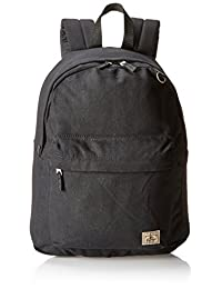 Everest Classic Laptop Canvas Backpack, Black, One Size