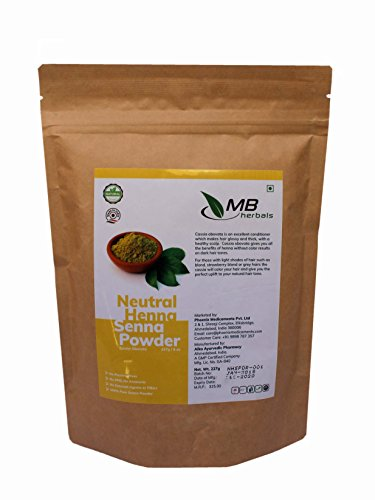 MB Herbals Neutral Henna Powder 227g / 1/2 Lb / 8 Oz - Colorless Henna - Senna Powder - Cassia obovata - Natural Hair Conditioner (Does Not Color ()