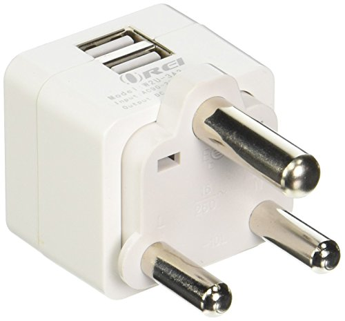 Price comparison product image Orei S. Africa 2 USB (3.4A/17W) Travel Charger for all iPhone, iPad, Samsung Galaxy, Android, HTC One, Motorola, LG (W2U-M)