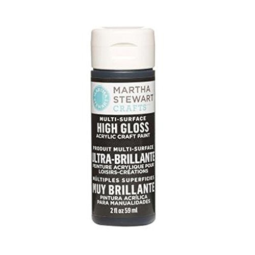 Martha Stewart Crafts Multi-Surface High Gloss Acrylic Craft Paint in Assorted Colors (2-Ounce), 32102 Beetle Black