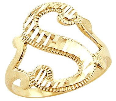 B Letter In Gold Ring Sonia Jewels Sonia Jew...