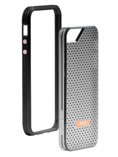 Avivo Rail Carbonate / Apple iPhone 5 & 5S Polycarbonate Rail Motif Case (Stealth Black + Motif Jacket)
