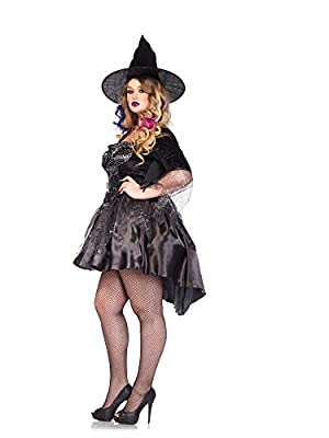 Leg Avenue Women's Plus-Size Black Magic Mistress