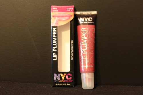 NYC Lippin' Large Lip Plumper, 477 Berry Sorbet, 0.55 Fl Oz