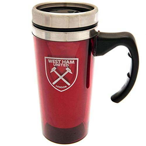 West Ham United FC Official Aluminum Travel Mug (One Size) (Claret)