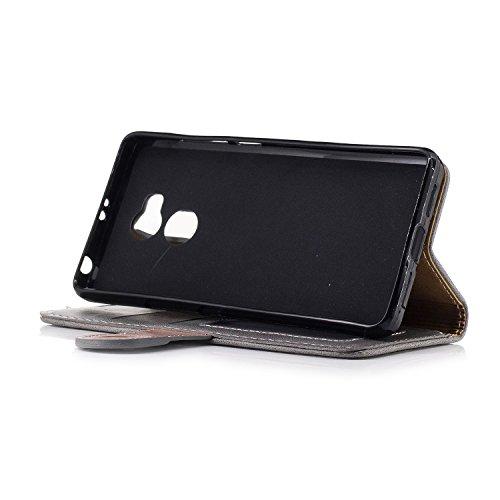 Redmi 4A Case, Calidad Genuina Elegante Estilo Back Magnetic Buckle Flip Cartera Funda De Cuero Para Xiaomi Redmi 4 Series ( Color : Black , Size : Redmi 4A ) Gray