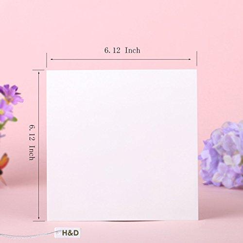 AMAZZANG-Squar White Paper Envelope Invitation Card Stationery Letter Gift Envelopes (36PCS)
