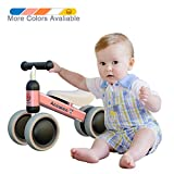 Ancaixin Baby Balance Bikes Bicycle Children Walker 10 Month - 24 Month Toys for 1 Year Old No Pedal Infant 4 Wheels Toddler Best First Birthday New Year Gift Pink