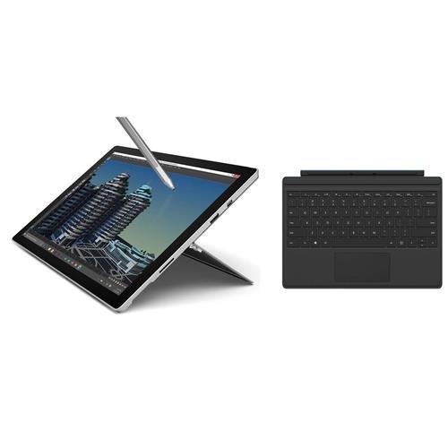 Microsoft Surface Pro 4 Tablet, 12.3in, Intel Core i5, 8GB RAM, 256GB SSD, Windows 10, Silver Black (Renewed)