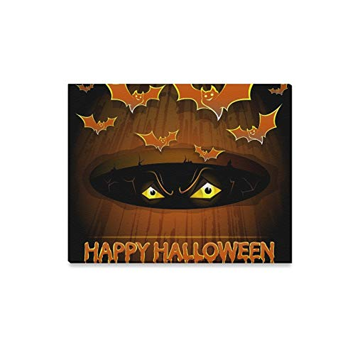 (YUMOING Wall Art Painting Halloween Poster Bats Scary Eyes Prints On Canvas The Picture Landscape Pictures Oil for Home Modern Decoration Print Decor for Living)