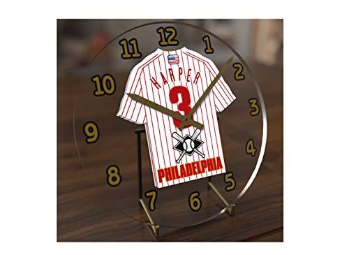 Mlb Philadelphia Phillies Table - USA Baseball Legends Table Clocks - 7