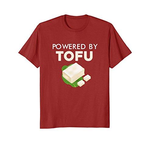 Mens Powered By Tofu T-Shirt 3XL Cranberry